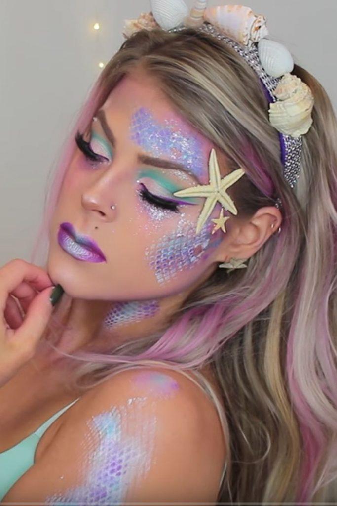 3 Mermaid Makeup Tutorials For Halloween That Are Way